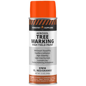 Forestry Suppliers Aerosol Tree Marking Paint, 12 oz., Flo. Red/Orange