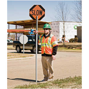 Stop/Slow Sign with PVC Staff