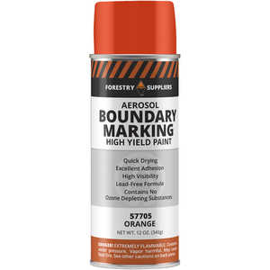 Forestry Suppliers Aerosol Orange Boundary Paint