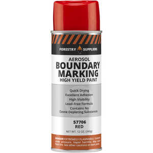 Forestry Suppliers Aerosol Red Boundary Paint