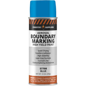 Forestry Suppliers Aerosol Blue Boundary Paint