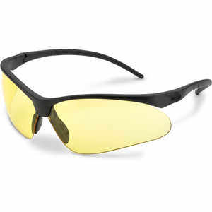Elvex Flex-Pro Safety Glasses, Black Frame, Amber Lens
