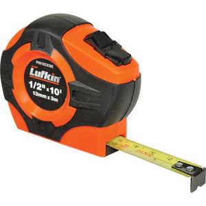 Lufkin HI-VIZ Tape, 10´L x 1/2˝W (3m L x 12mm W) English/Metric