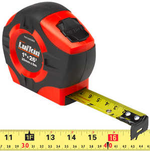 "Lufkin HI-VIZ Tape, 26'L x 1""W (8m L x 25mm W) English/Metric"
