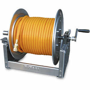 "King's Skid Sprayer 12"" Manual Hose Reel w/150' of 3/8"" High-Pressure Hose"