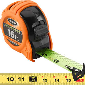 "Keson® Ultra Bright Blade Measuring Tape – Model PG1816UB, 16'L  x 1""W"
