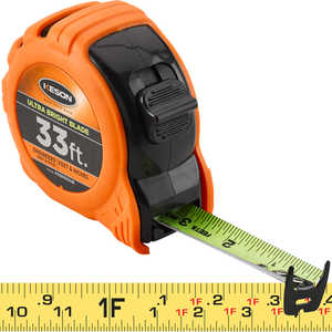 "Keson Ultra Bright Blade Measuring Tape – Model PG181033UB, 33'L x 1""W"