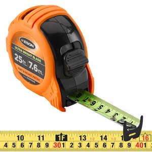 "Keson® Ultra Bright Blade Measuring Tape – Model PG18M25UB, 25'/7.6mL x 1""W"