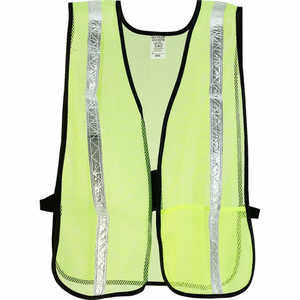 Mesh Safety Vest with Gloss Reflective Tape, Yellow