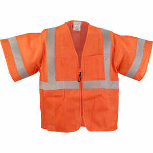 ANSI Class 3 Classic Mesh Surveyor Vest, Orange, S/M