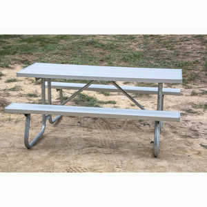 CJ Series Welded Frame Table with Aluminum Top, 8'