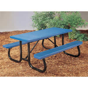 J2 Series Plastisol Picnic Table, 6', Blue
