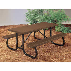 J2 Series Plastisol Picnic Table, 8', Brown