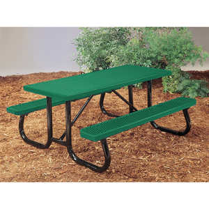 J2 Series Plastisol Picnic Table, 8', Hunter Green