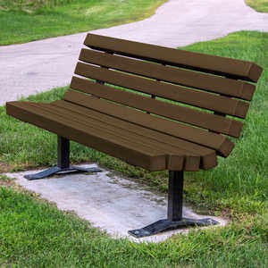 Contour Park Bench, 6', Brown