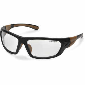 Clear Lens, Black/Tan Frame, Carhartt Carbondale Safety Glasses