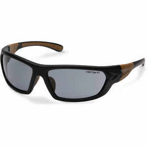 Gray Lens, Black/Tan Frame, Carhartt Carbondale Safety Glasses