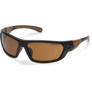 Sandstone Bronze Lens, Black/Tan Frame, Carhartt Carbondale Safety Glasses