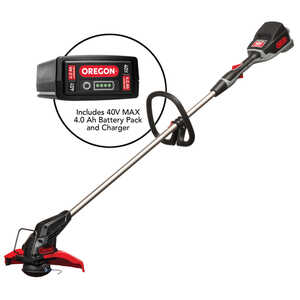 Oregon PowerNow 40V MAX Model ST275 Cordless Trimmer/Edger Kit with 4.0 Ah Battery Pack