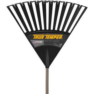 "True Temper Model 2914912 24"" Clog Free Poly Leaf Rake"