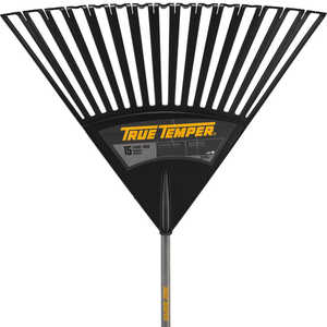 "True Temper Model 2913912 30"" Clog Free Poly Leaf Rake"
