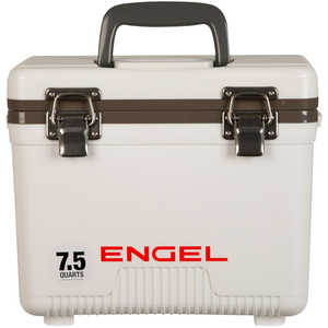 Engel UC7 Dry Box/Cooler, 7.5 Qt., White