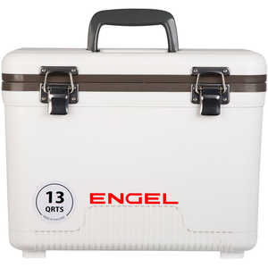 Engel UC13 Dry Box/Cooler, 13 Qt., White