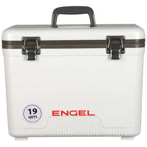 Engel UC19 Dry Box/Cooler, 19 Qt., White