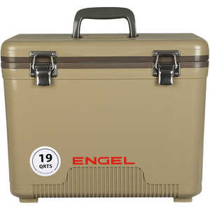 Engel UC19T Dry Box/Cooler, 19 Qt., Tan