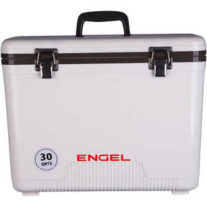 Engel UC30 Dry Box/Cooler, 30 Qt., White