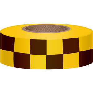 Checkered Yellow/Black Flagging, 300'