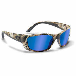 Costa Fisch Sunglasses with 400G Blue Mirror Glass Lens