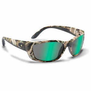 Costa Fisch Sunglasses with 400G Green Mirror Glass Lens