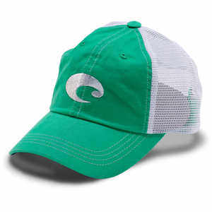 Costa Mesh Hat, Spring Green/White