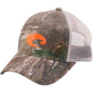Costa Mesh Hat, Realtree Xtra Camo/Stone w/ Orange Logo