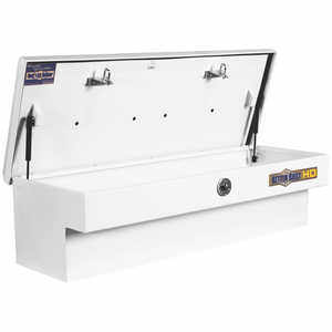 "Better Built Heavy-Duty (HD) Series White Steel Side-Mount Box, 46""L"