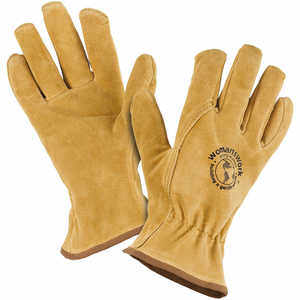 Womanswork Lined Pigskin Work Gloves, Medium