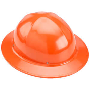 Orange Forester Full Brim Aluminum Hard Hat