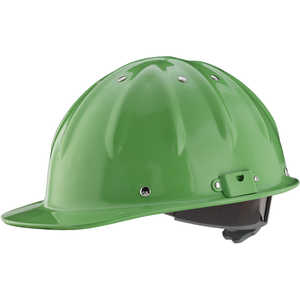 Forester Cap Aluminum Hard Hat, Safety Green