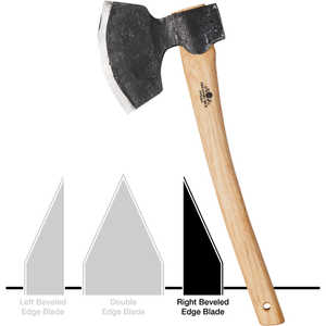 Right Bevel Grind Gransfors 1900 Broad Axe with Straight Handle