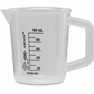 Polypropylene Beaker with Handle, 100 ml Capacity