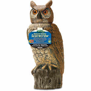 Natural Enemy Rotating-Head Owl Scarecrow