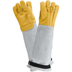 The Trapper Vet-Pro Leather/Kevlar Handling Gloves