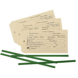 Forestry Suppliers Deer Data Tags, Pack of 50
