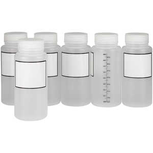 Dynalab 1000mL Graduated Write-On Bottles, Pkg. of 6
