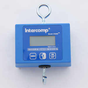 Intercomp CS200 Digital Hanging Scale, 100 lb./50 kg Capacity