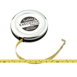 Lufkin Executive Thinline Pocket Tape, 6'/2m, Model W606ME