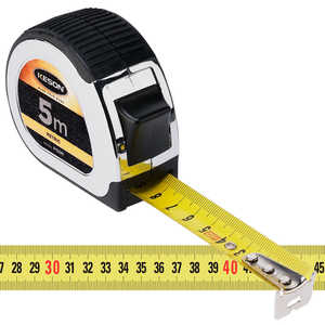 Keson Standard Series Chrome-Plated Measuring Tape - 5m L x 25mm (1˝)W, Metric