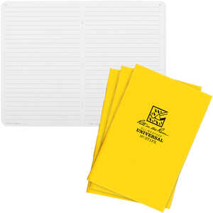 No. 371FX - Universal, Yellow Cover, Rite in the Rain Notebook, Pack of 3