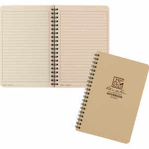No. 973T – Universal, Tan Cover, Rite in the Rain Spiral Notebook